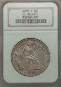 Seated Dollars: , 1860-O $1 XF45 NGC. NGC Census: (44/652). PCGS Population (84/976).Mintage: 515,000. Numismedia Wsl. Price for problem fre...