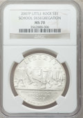 Modern Issues, 2007-P $1 Little Rock MS70 NGC. NGC Census: (1757). PCGS Population(473). Numismedia Wsl. Price for problem free NGC/PCGS...