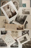Art:Illustration Art - Mainstream, [Prints]. Large Group of More Than 165 Prints. Includes etchings,engravings, lithographs. Some matted. Some toning. Larges...