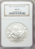 Modern Issues, 2007-P $1 Jamestown MS70 NGC. NGC Census: (4815). PCGS Population(1078). Numismedia Wsl. Price for problem free NGC/PCGS ...