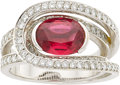 Estate Jewelry:Rings, Fred Spinel, Diamond, White Gold Ring . ...