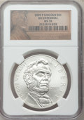 Modern Issues, 2009-P $1 Lincoln Bicentennial MS70 NGC. NGC Census: (8306). PCGSPopulation (3230). Numismedia Wsl. Price for problem fre...