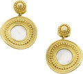 Estate Jewelry:Earrings, Carrera y Carrera Diamond, Mother-of-Pearl, Gold Earrings. ...