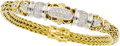 Estate Jewelry:Bracelets, John Hardy Diamond, Gold Bracelet. ...