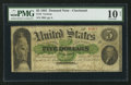Large Size:Demand Notes, Fr. 4 $5 1861 Demand Note PMG Very Good 10 Net.. ...