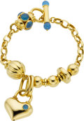 Estate Jewelry:Bracelets, Soho Chalcedony, 14k Gold Bracelet. ...
