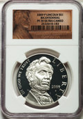 Modern Issues, 2009-P $1 Lincoln Bicentennial PR70 Ultra Cameo NGC. NGC Census:(6814). PCGS Population (2415). Numismedia Wsl. Price for...