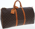 Luxury Accessories:Bags, Louis Vuitton Classic Monogram Canvas Keepall 55 WeekenderOvernight Bag. ...