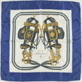 "Luxury Accessories:Accessories, Hermes White, Blue, Gold, & Gray ""Brides de Gala"" by HugoGrygkar Silk Scarf. ..."