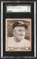 Baseball Cards:Singles (1940-1949), 1940 Play Ball Honus Wagner #168 SGC 70 EX+ 5.5....