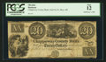 Obsoletes By State:Michigan, Sault De St. Mary, MI- The Chippeway County Bank $20 Jan. 1, 1840 G6 Lee SAU-2-8. ...
