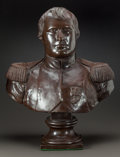 Decorative Arts, Continental, A PATINATED COPPER BUST OF NAPOLEON . Dated 1828. Marks:DESPRATS A PARIS, 1828. 28 inches high (71.1 cm). ...