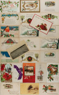 Books:Americana & American History, [Post Cards]. Group of 25 Christmas Related Postcards. Ca. 1910'sand 1920's. 5.5 x 3.5 inches. Most have been mailed. Light...