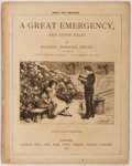 Books:Literature Pre-1900, Juliana Horatia Ewing. A Great Emergency. London: George Bell andSons, 1886. 128 pages. Publisher's printed wrappers with lig...