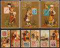 "Non-Sport Cards:Lots, 1880's N85 Duke ""Postage Stamps"" and Kirk & Co. ""Soaps"" TradeCard Collection (47). ..."