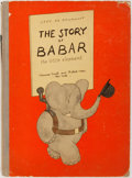 Books:Children's Books, Jean de Brunhoff. The Story of Babar. New York: Harrison Smith andRobert Haas, 1936. Second printing of American edition. Lar...