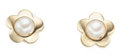 Estate Jewelry:Earrings, Freshwater Cultured Pearl, Gold Earrings. ...