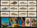 Non-Sport Cards:Lots, 1910-1933 Vintage Non-Sports Collection (130) With Over 100 T58Fish Series. . ...