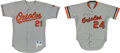 Baseball Collectibles:Uniforms, 1986 Rick Dempsey (signed) and 1998 Jimmy Key Game Worn BaltimoreOrioles Jerseys Lot of 2....