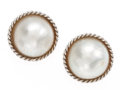 Estate Jewelry:Earrings, Cultured Pearl, White Gold Earrings. ...