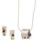 Estate Jewelry:Suites, Iolite, Peridot, Gold, Silver Jewelry Suite. ... (Total: 2 Items)