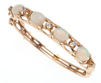 Opal, Diamond, Gold Bracelet