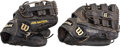 Baseball Collectibles:Others, 2000s Jose Bautista Game Worn Fielder's Gloves - Lot of 2. ...