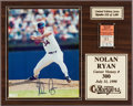 Autographs:Others, 1990 Nolan Ryan Signed 300th Victory Ticket Display....