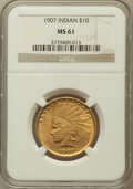 Indian Eagles: , 1907 $10 No Periods MS61 NGC. NGC Census: (1144/3762). PCGSPopulation (559/3844). Mintage: 239,400. Numismedia Wsl. Price ...