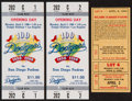 Baseball Collectibles:Tickets, 1971-90 Los Angeles Dodgers Full Ticket Lot of 38....