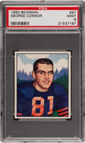 Football Cards:Singles (1950-1959), 1950 Bowman George Connor #97 PSA Mint 9 - Pop Five, None Higher! ...
