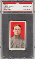 Baseball Cards:Singles (Pre-1930), 1909-11 T206 Sweet Caporal Davy Jones, Detroit PSA NM-MT 8 - OnlyOne Higher. ...