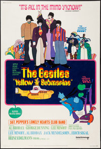 "Yellow Submarine (United Artists, 1968). Poster (40.5"" X 60""). Animation"