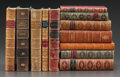 Prints, LEATHER BINDINGS: TWELVE VOLUMES OF CLASSICS IN FINE BINDINGS.Various authors, publishers, and editions. Late 19th-mid-20th...(Total: 12 Items)