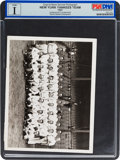 Baseball Collectibles:Photos, 1927 New York Yankees Team News Photograph, PSA/DNA Type 1....