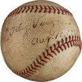 Autographs:Baseballs, 1936 Arky Vaughan Single Signed Baseball....