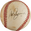 Autographs:Baseballs, 1970's Joe Cronin Single Signed Baseball, PSA/DNA EX-MT 6....