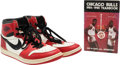 Basketball Collectibles:Others, 1984-85 Michael Jordan Game Worn Original Air Jordan Shoes -Sourced From Team Employee. ...