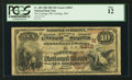 National Bank Notes:Missouri, Carthage, MO - $10 1882 Brown Back Fr. 485 The Carthage NB Ch. #(M)4815. ...