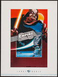 """Movie Posters:Science Fiction, The Empire Strikes Back by Larry Noble (John Steinberg, Inc.,1980). Autographed Art Print (16.75"""" X 22.25""""). Science Fictio..."""