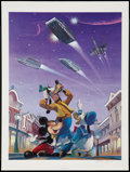 "Movie Posters:Science Fiction, Magical Smiles III by Charles Boyer (Walt Disney Company, 1986).Autographed Limited Edition Lithograph (18"" X 24""). Animati..."
