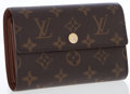 Luxury Accessories:Accessories, Louis Vuitton Classic Monogram Canvas Trifold Wallet . ...