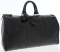 Luxury Accessories:Travel/Trunks, Louis Vuitton Black Epi Leather Keepall 45cm Weekender Bag. ...