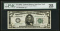Fr. 1951-B* $5 1928A Federal Reserve Note. PMG Very Fine 25