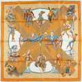 "Luxury Accessories:Accessories, Hermes Orange, Cream, & Yellow ""Les Ballets Russes"" by AnnieFaivre Silk Scarf. ..."