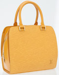 Luxury Accessories:Bags, Louis Vuitton Yellow Epi Leather Pont-Neuf Top Handle Bag. ...