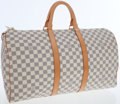 Luxury Accessories:Bags, Louis Vuitton Damier Azur Canvas Keepall 50 Travel Boston Bag. ...