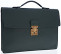 Luxury Accessories:Bags, Louis Vuitton Hunter Green Taiga Leather Robusto Briefcase. ...