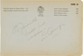 Autographs:Others, 1930's Lou Gehrig Signed Page....