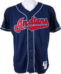 Baseball Collectibles:Uniforms, 1995 Dave Winfield Game Worn Signed Cleveland Indians Jersey....